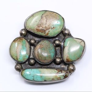 Accessories - NAVAJO Sterling Handmade Turquoise Bolo Tie Clip